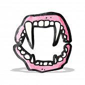 stock photo of false teeth  - vampire teeth cartoon - JPG