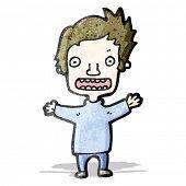 cartoon worried boy