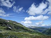 Mountain summer holiday landscape poster