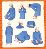 Moslem Praying Position.eps