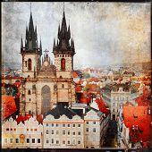 Prague, vintage picture