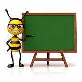 image of bee cartoon  - 3d render cartoon of bee illustration series - JPG