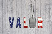 military valor dog tags