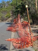 stock photo of safety barrier  - Road Safety Barrier 1 - JPG