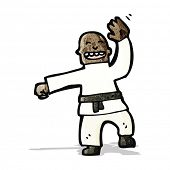 foto of judo  - cartoon judo chop - JPG