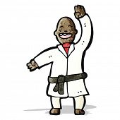 pic of judo  - cartoon man judo chopping - JPG