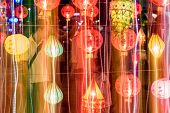 Light Painting Of Panning Camera Of International Lantern