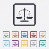 foto of justice law  - Scales of Justice sign icon - JPG