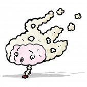 cartoon overheated brain