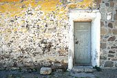 Old Door and Wall in Molyvos Lesvos