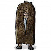 cartoon long haired man