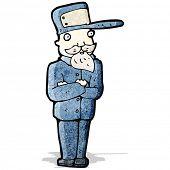cartoon ticket collector