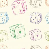 Color dice seamless texture