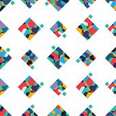 Abstract vector seamless pattern, colorful geometric