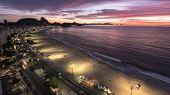 Sunrise at Copacabana Beach