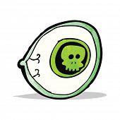 spooky mystic eye cartoon