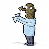 cartoon pointing arrow man;