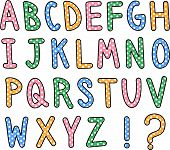 Hand Drawn Alphabet Text