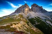 Italy Dolomites - a wonderful landscape the barren rocks