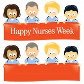 Happy Nurses Week Isolated