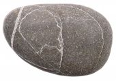 foto of dapple-grey  - sea stone isolated on a white background - JPG