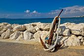 Old Rusty Anchor By The Sea
