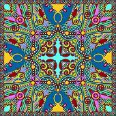 silk neck scarf or kerchief square pattern design in ukrainian k