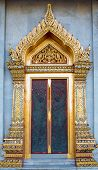 Temple door in classic Thai style
