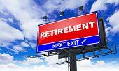 Retirement Inscription on Red Billboard.