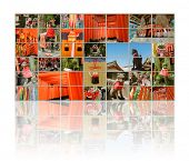 Постер, плакат: Collection of Fushimi Inari Taisha Shrine scenics in TV wall fox statue thousands of torii paper