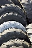 old tires on the scrap yard