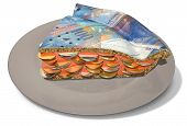 Slice Of Franc Money Pie