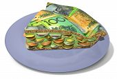 Slice Of Australian Dollar Money Pie