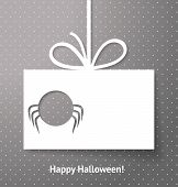 image of applique  - Applique card or background with spider - JPG