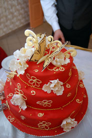 image of wedding table decor  - Detail from the groom and bride - JPG