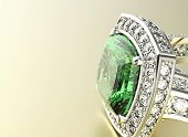stock photo of jewelry  - Ring with Diamond - JPG
