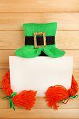 pic of leprechaun hat  - Greeting card for Saint Patrick - JPG