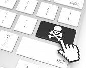 picture of skeleton key  - Skeleton enter key with hand cursor - JPG