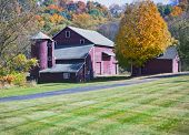 pic of red siding  - Beautiful traditional New England red barn  - JPG