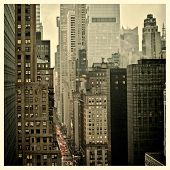 foto of instagram  - Rush hour on 42nd Street in New York City with Instagram effect filter - JPG