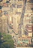 picture of empire state building  - The streets of Manhattan taken from the Empire State Building with Instagram style filter - JPG