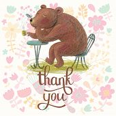 foto of cute bears  - Thank you  - JPG