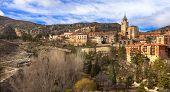 image of unique landscape  - unique Albarracin  - JPG