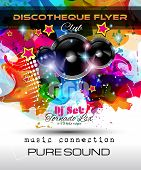 pic of clubbing  - Disco Night Club Flyer layout with Speaker shape and music themed elements to use for Event Poster - JPG