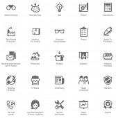 Manufacturing and distribution icon set poster
