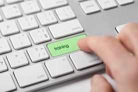 image of keypad  - Internet training concept - JPG
