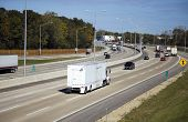 picture of oversize load  - Traffic on Highway  - JPG