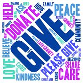 stock photo of give thanks  - Give word cloud on a white background - JPG