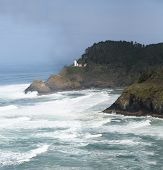 Lighthouse & Surf Breaking