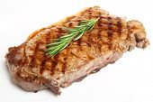 Chargrilled sirloin beef steak